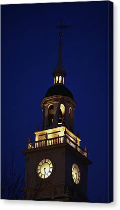 Independence Hall Tower Philadelphia Pa Canvas Print by Panoramic Images