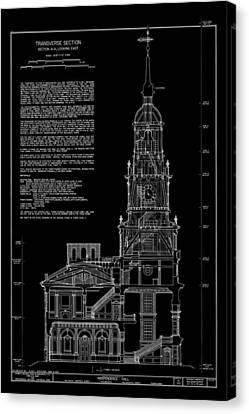 Independence Hall Transverse Section - Philadelphia Canvas Print