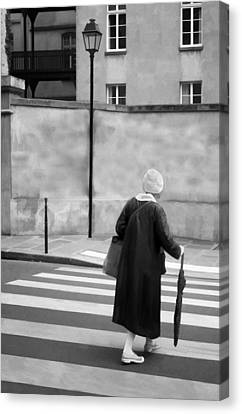 Independence - Street Crosswalk - Woman Canvas Print by Nikolyn McDonald