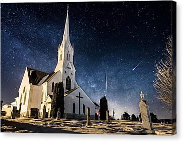 Indherred Church Canvas Print by Aaron J Groen
