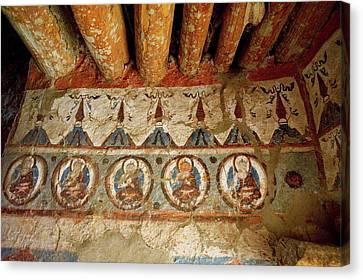 Mural Canvas Print - India, 10th Century Murals by Jaina Mishra