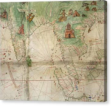 Seacoast Canvas Print - India And South-east Asia by British Library