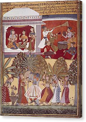 India. Calcutta. Krishnas Dance Canvas Print