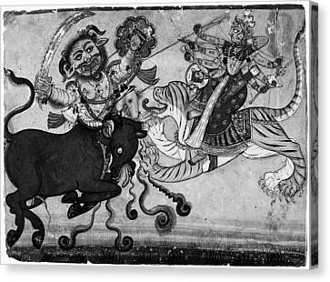 India Durga, C1700 Canvas Print