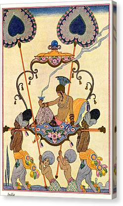 Art Deco Jewelry Canvas Print - India by Georges Barbier
