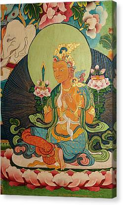 Bodhisattva Canvas Print - India, Himachal Pradesh, Dhauladhar by Alida Latham