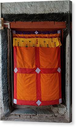 Tibetan Canvas Print - India, Jammu & Kashmir, Ladakh, Doorway by Ellen Clark