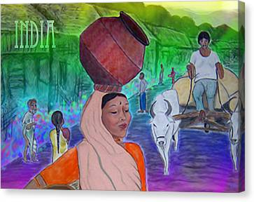 India Canvas Print by Karen R Scoville