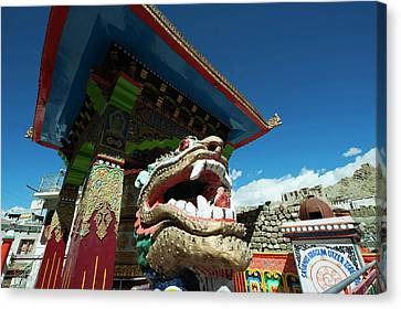 India, Ladakh, Leh, Small Colorful Canvas Print by Anthony Asael