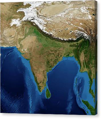 India Canvas Print by Nasa