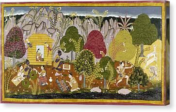 Carousel House Canvas Print - India Ramayana, C1650 by Granger