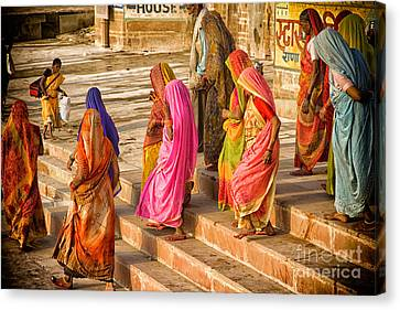 India  The United Colors Of Varanasi Canvas Print