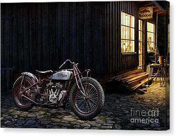 Indian 101 Scout Bobber Canvas Print by Frank Kletschkus