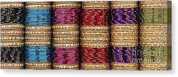 Indian Bangles Panoramic Canvas Print by Tim Gainey