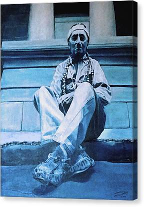 The American Canvas Print by Schwartz