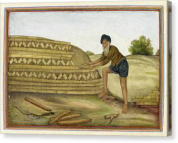 Sociology Canvas Print - Indian Brickmaker by British Library