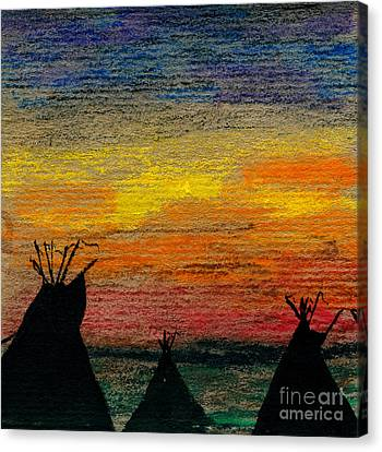 Indian Camp Canvas Print by R Kyllo