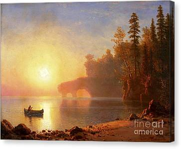 Indian Canoe Canvas Print by Pg Reproductions
