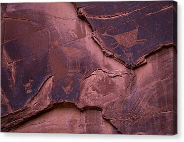 Indian Cave Art Canvas Print