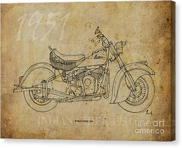Indian Chief 1951 Canvas Print by Pablo Franchi