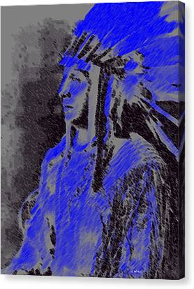 Indian Chief Canvas Print by George Pedro