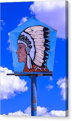 Indian Chief Sign Canvas Print by Garry Gay