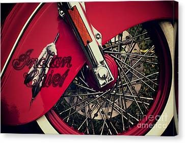 Indian Chief Spoked Wheel Canvas Print by Tim Gainey