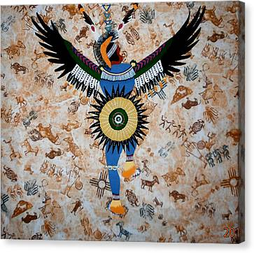 Indian Dance Canvas Print by Linda Egland