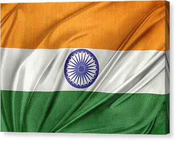 Indian Flag Canvas Print by Les Cunliffe