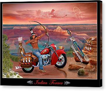 Indian Forever Canvas Print by Glenn Holbrook