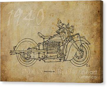 Indian Four 1940 Canvas Print by Pablo Franchi