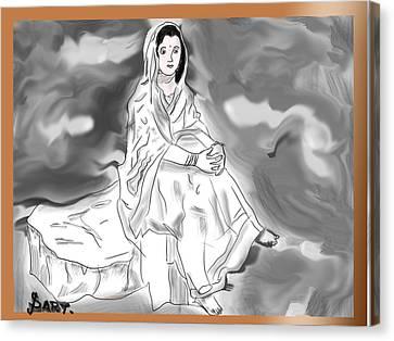 Indian Glimpse Canvas Print