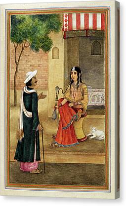 Indian Harlot Canvas Print by British Library
