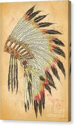 Indian Head Dress-b Canvas Print