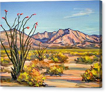 Indian Head Mountain Borrego Springs Canvas Print