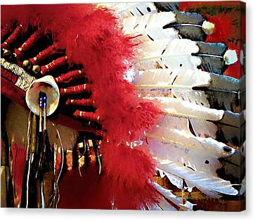 Indian Headdress Canvas Print by Julie Palencia