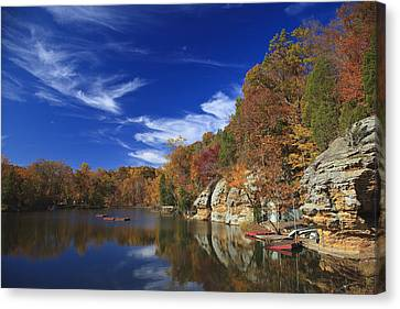 Canvas Print featuring the photograph Indian Lake by Wendell Thompson