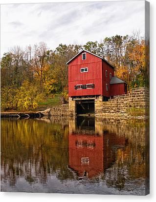 Indian Mill Upper Sandusky Ohio Canvas Print by Brian Mollenkopf