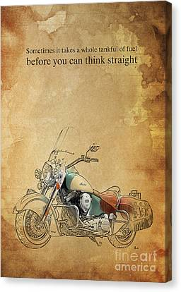 Indian Motorcycle Quote Canvas Print by Pablo Franchi