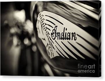 Depth Of Field Canvas Print - Indian Motorcycle Sepia by Tim Gainey