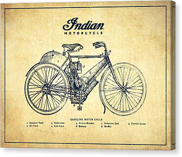 Indian Motorcycle - Vintage Canvas Print