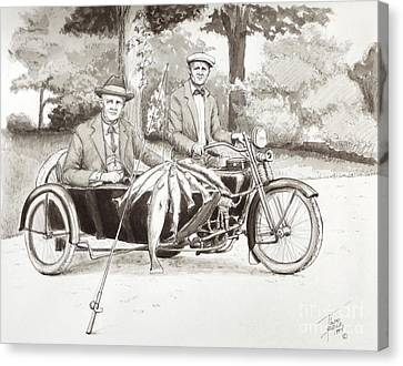 Indian Motorcylce Founders Canvas Print