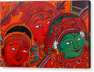 Indian Mural Art Canvas Print by Reshma Roy