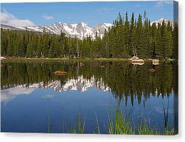 Indian Peaks Reflection Canvas Print by Aaron Spong