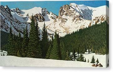 Indian Peaks Winter Canvas Print