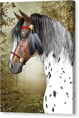Canvas Print featuring the digital art The Indian Pony by Jayne Wilson