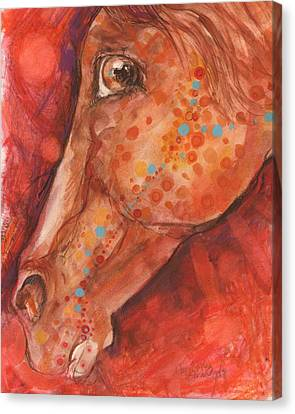 Indian Pony Canvas Print by Mary Armstrong