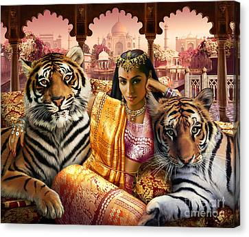 Tiger Canvas Print - Indian Princess by Andrew Farley
