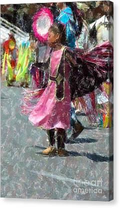 Indian Princess Dancer Canvas Print by Kathleen Struckle