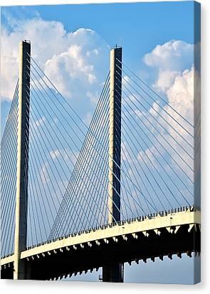 Indian River Bridge - Delaware Canvas Print by Kim Bemis